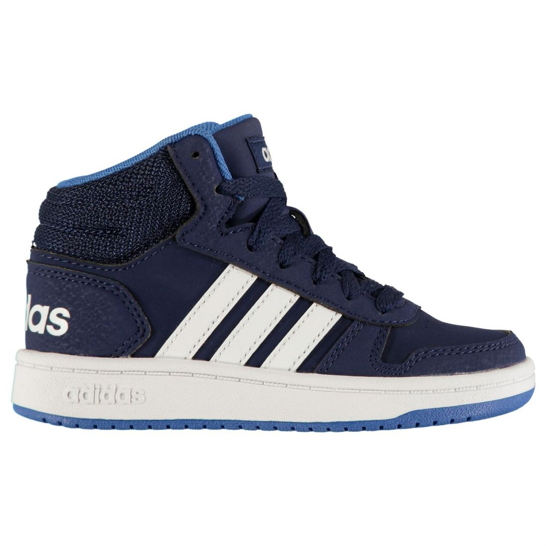 adidas Hoops Mid 2.0 Sneakers Childrens Boys High Top Laces Fastened Padded