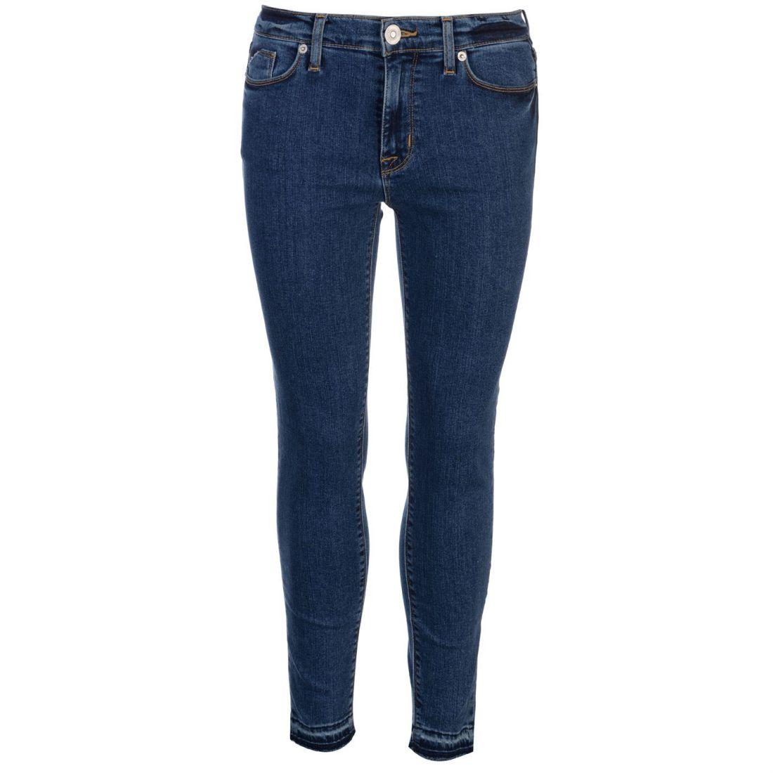 Hudson Jeans Skinny Ladies Pants Trousers Bottoms Zip Fit Distressed