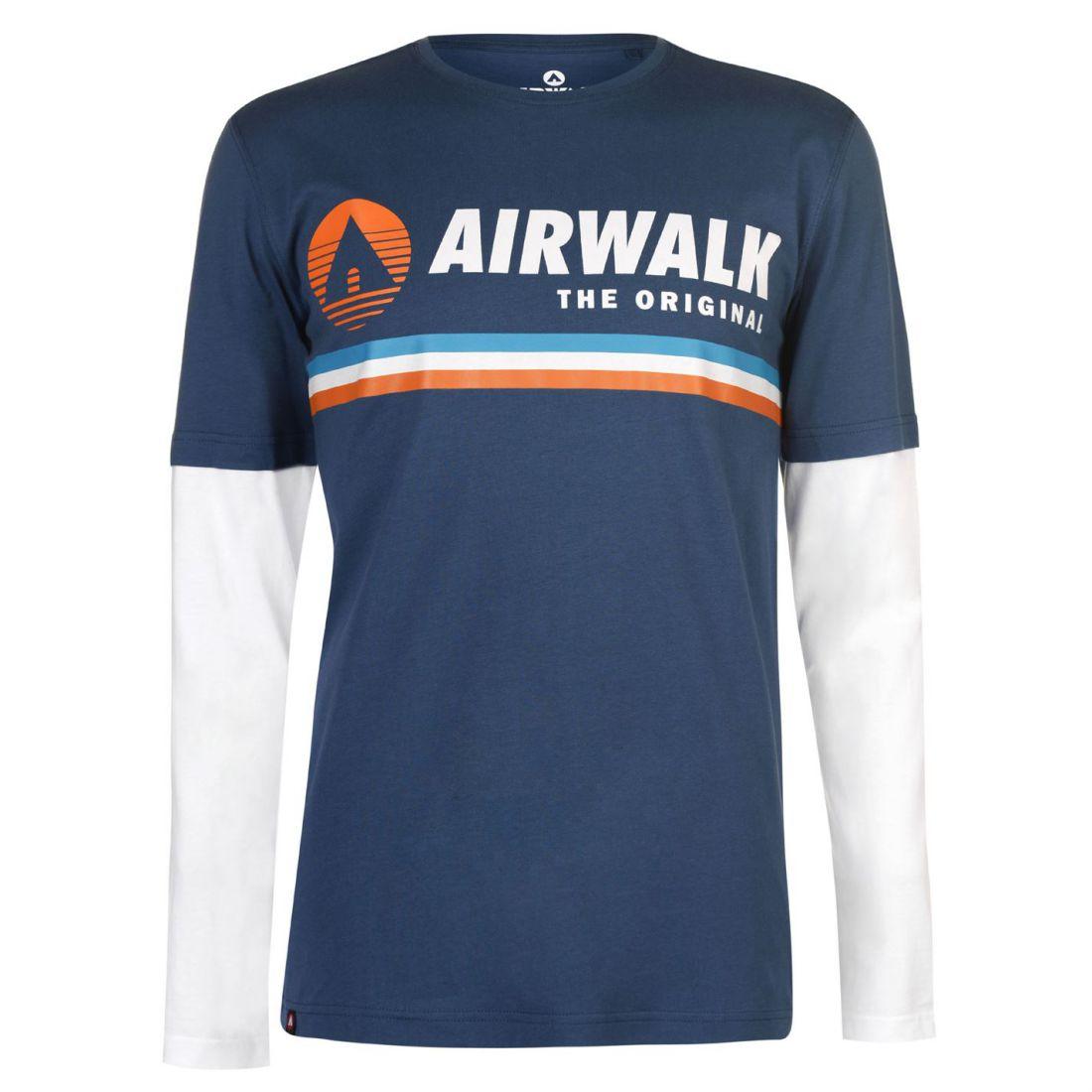 Airwalk ORIG Couche T Mens Gents Shirt pleine longueur manches