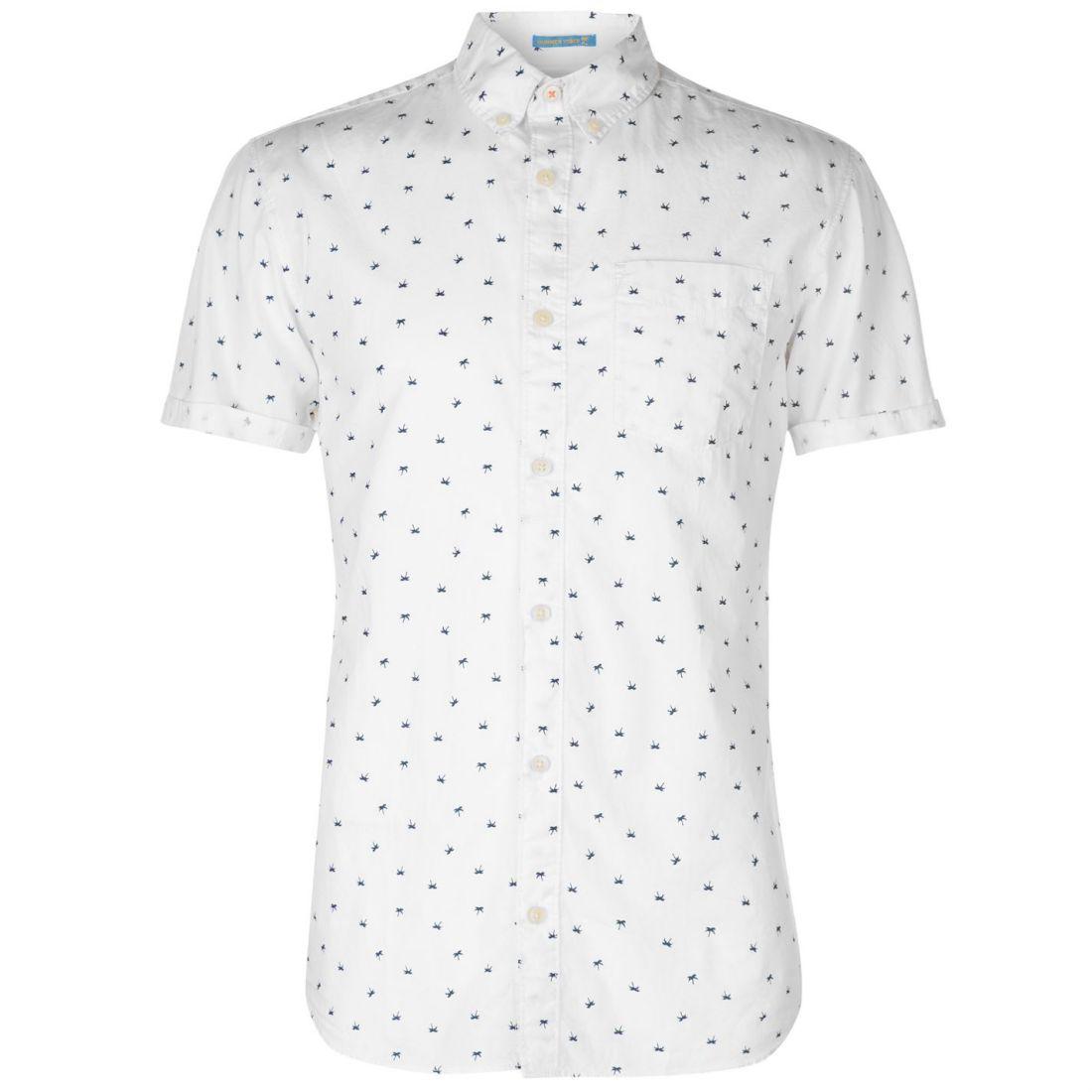 Mens Jack and Jones Org Cambridge Short Sleeve Casual Shirt New
