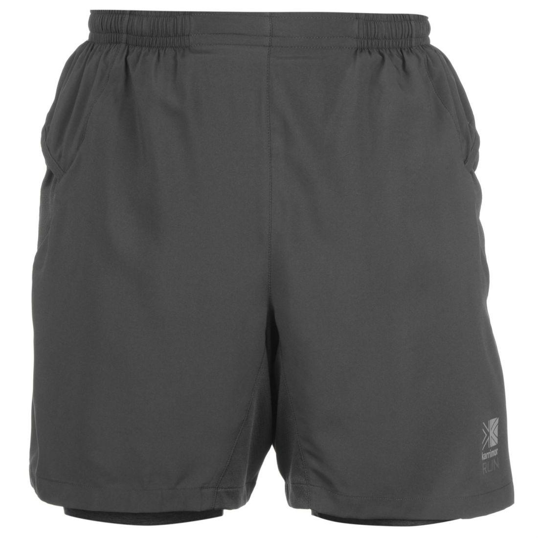 Karrimor Homme Gents X 2 In 1 Running Shorts Pantalon Léger Maille Cordon De Vêtements