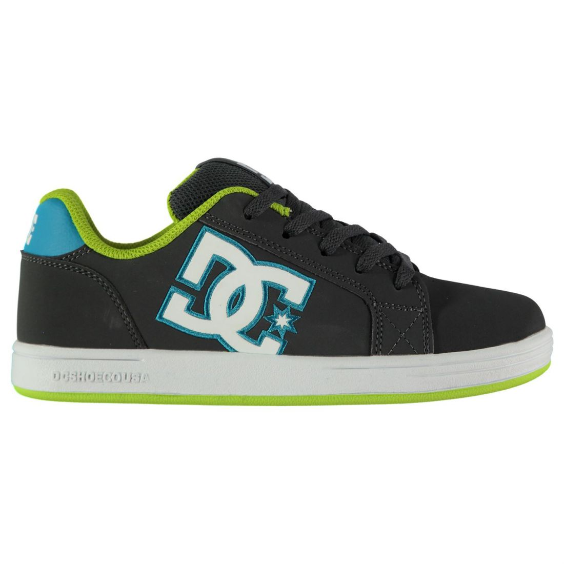 DC Kids Boys Serial Gaffik Trainers Junior Skate Shoes Lace Up Padded Ankle