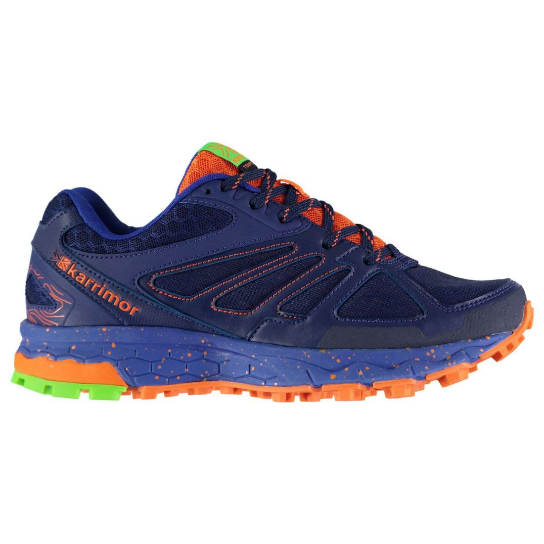 Karrimor Tempo 5 Boys Trail Running Shoes Runners Laces Fastened Ventilated Mesh