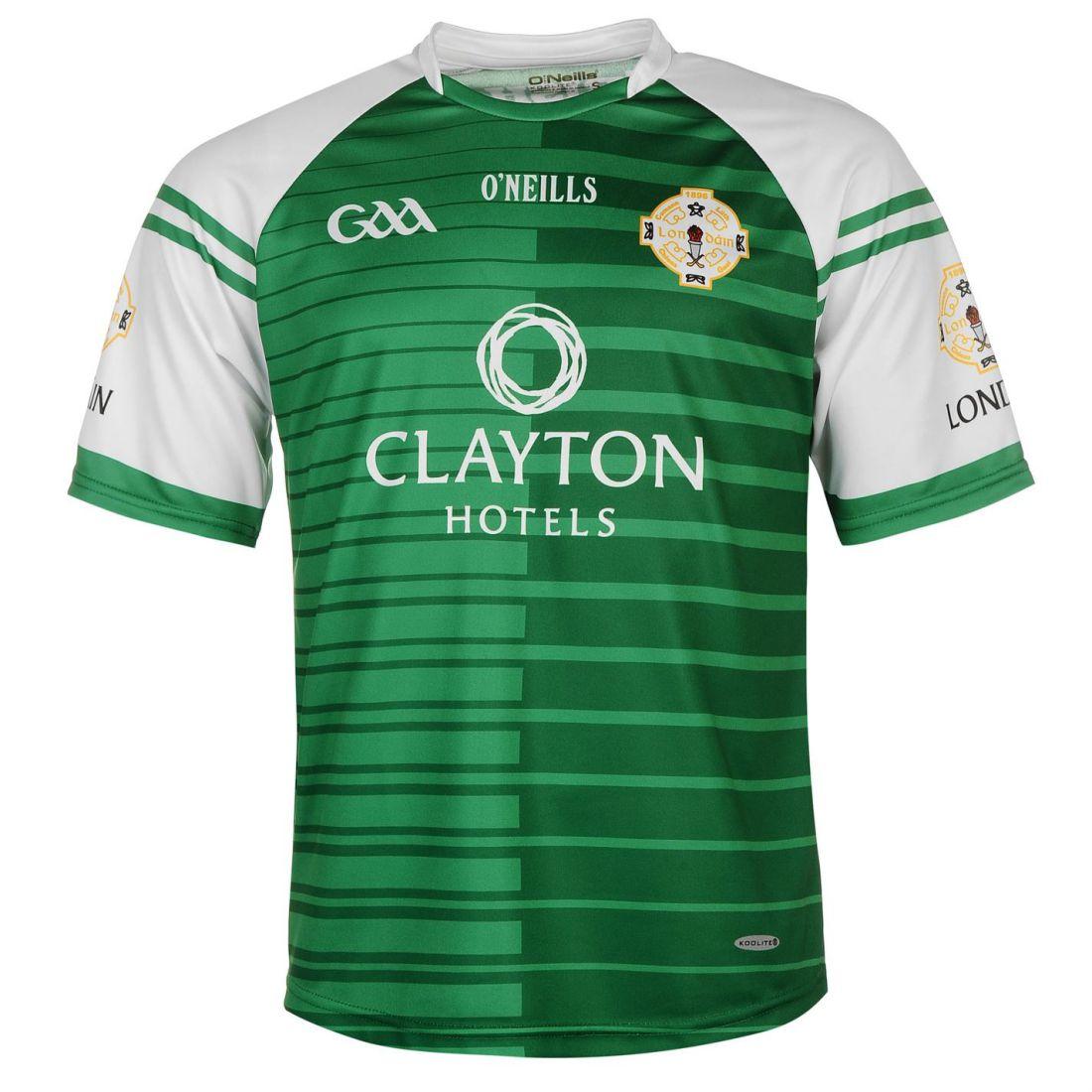 Oneills London GAA home jersey Mens Gents Shirt à Encolure Ras-du-cou à manches courtes regular