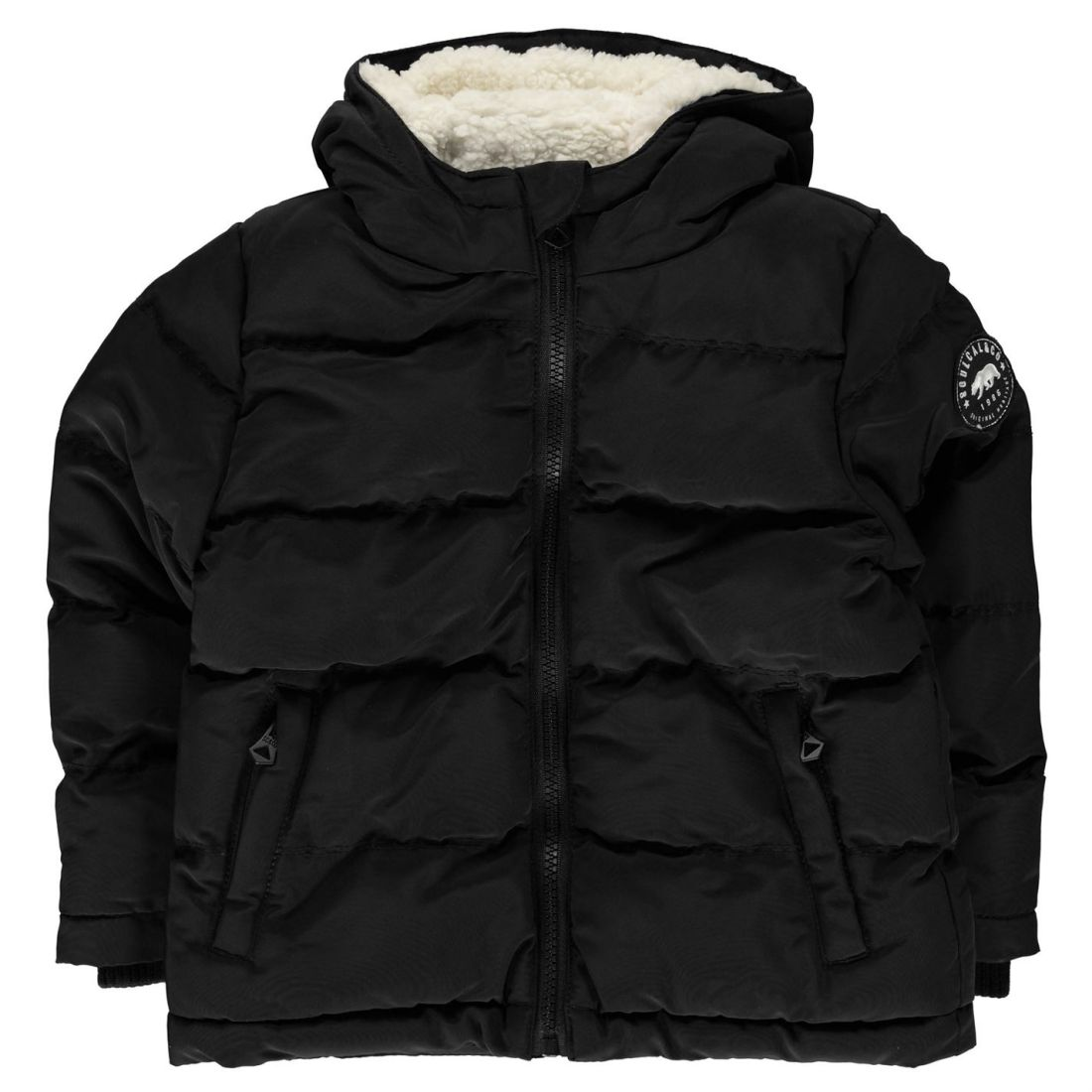 SoulCal Kids Boys Bubble Jacket Infant Padded Coat Top Long Sleeve Chin Guard