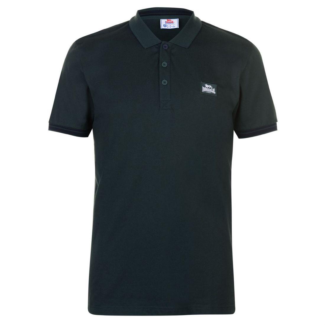Jersey Camisa de Polo Lonsdale Caballeros Classic Fit Camiseta Top para Hombre Manga Corta Botón