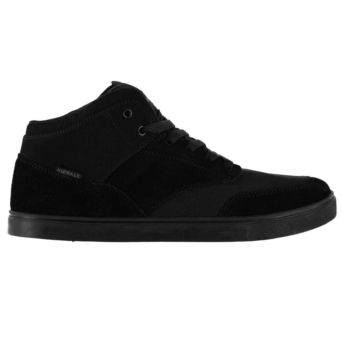 Airwalk Mens Gents Breaker Mid Skate Shoes Laces Fastened Flat Sole Footwear