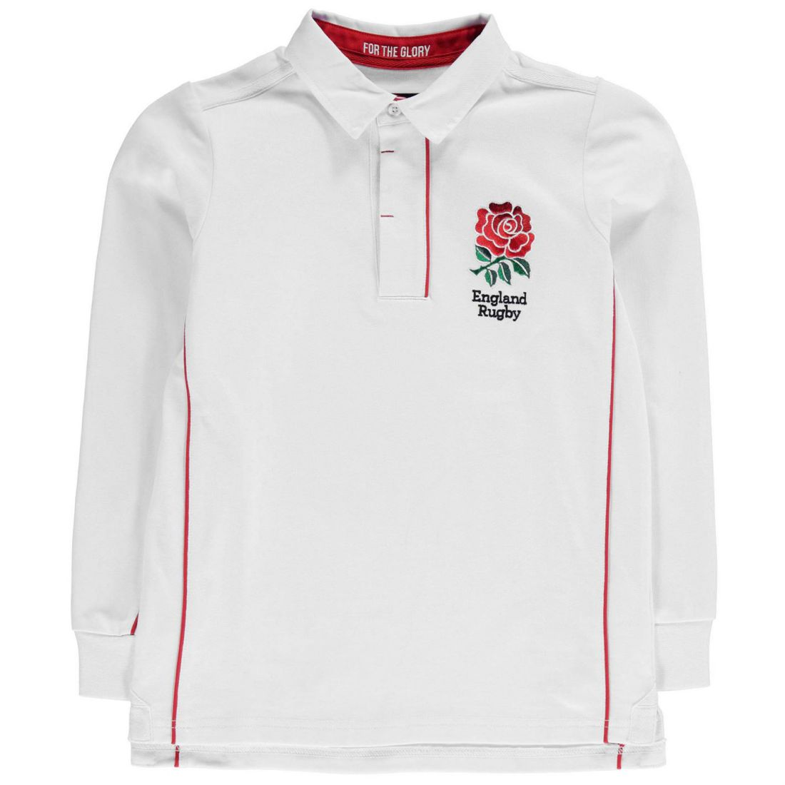 RFU Childrens England Jersey Boys Polo Shirt Top Long Sleeve Clothing