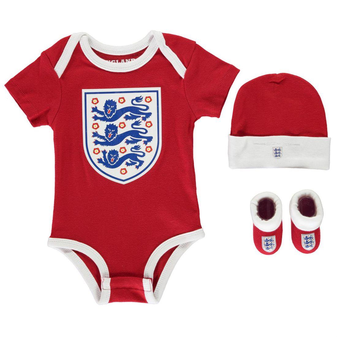 Angleterre Ensemble 3 pièces Bébé Garçons Vêtements à manches courtes col rond en coton stretch