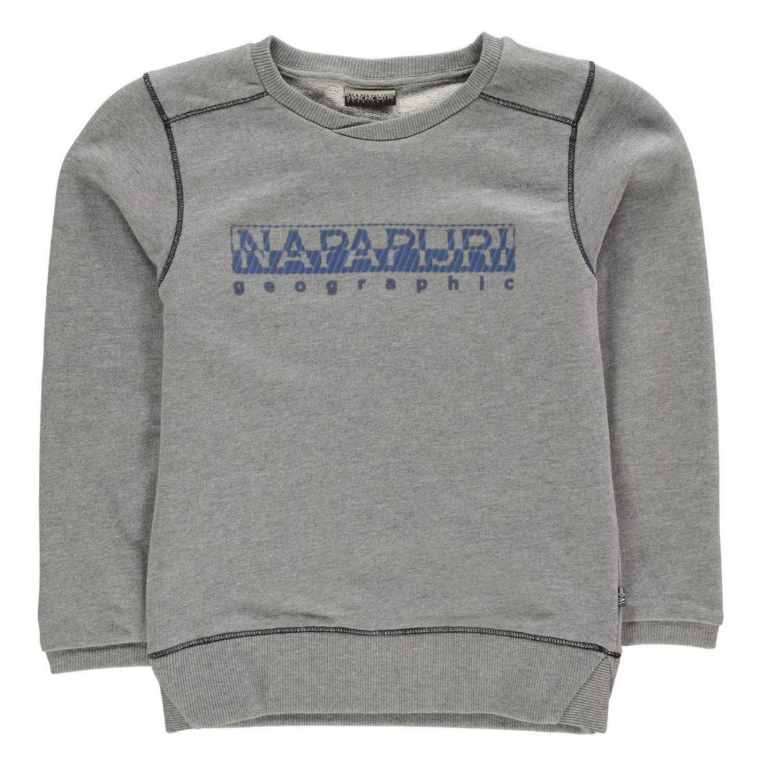 Kids NAPAPIJRI Baboon Crew Sweat-shirt pull à manches longues NOUVEAU