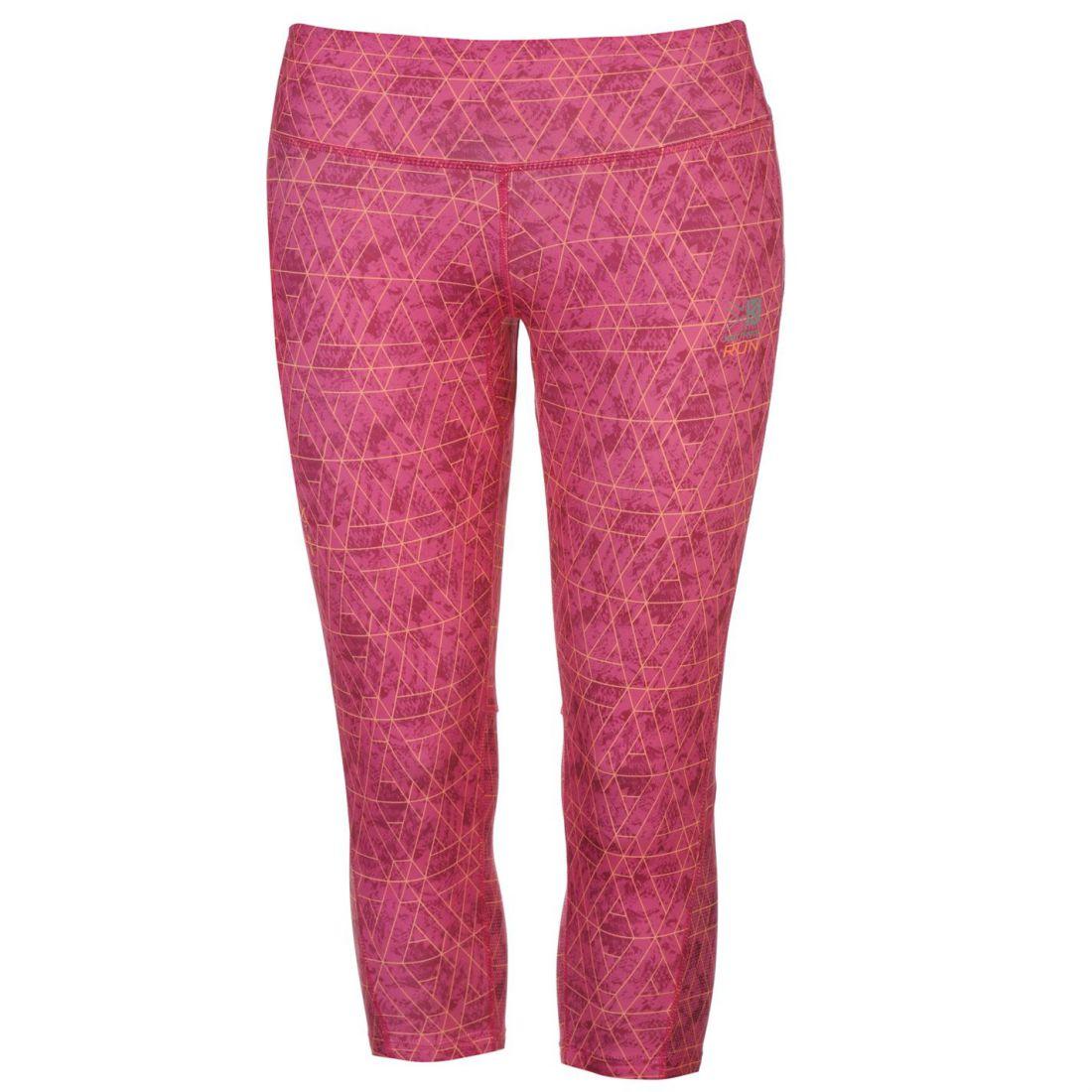 Karrimor Ladies X Running Capri Pants Tights Activewear Mesh Drawstring Clothing