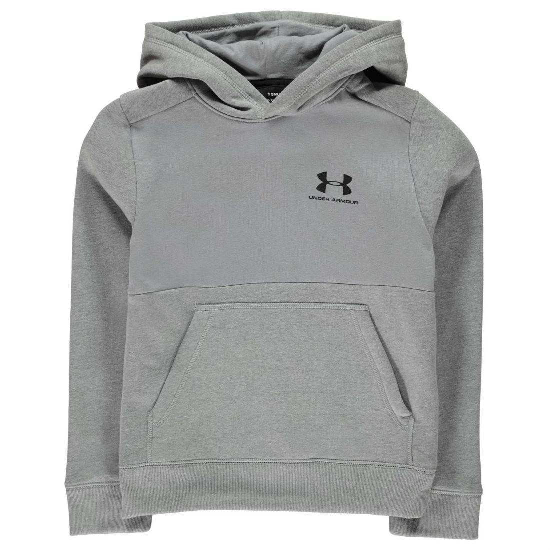 Under Armour Logo OTH Hoodie Jeune Garçons Sweat à capuche Haut à Capuche pleine longueur manches