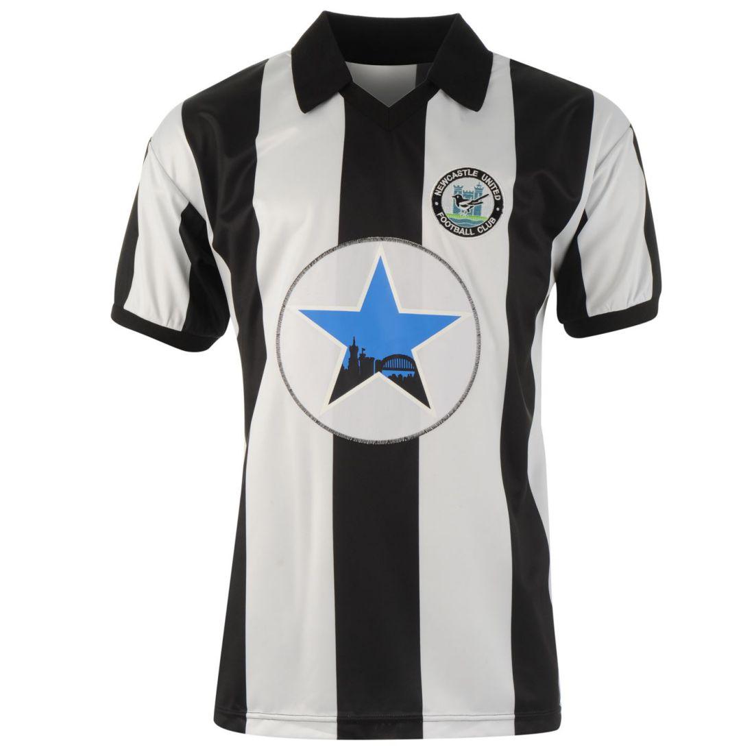 Score Draw Newcastle United Football Club 1982 Home Jersey Mens Gents Retro