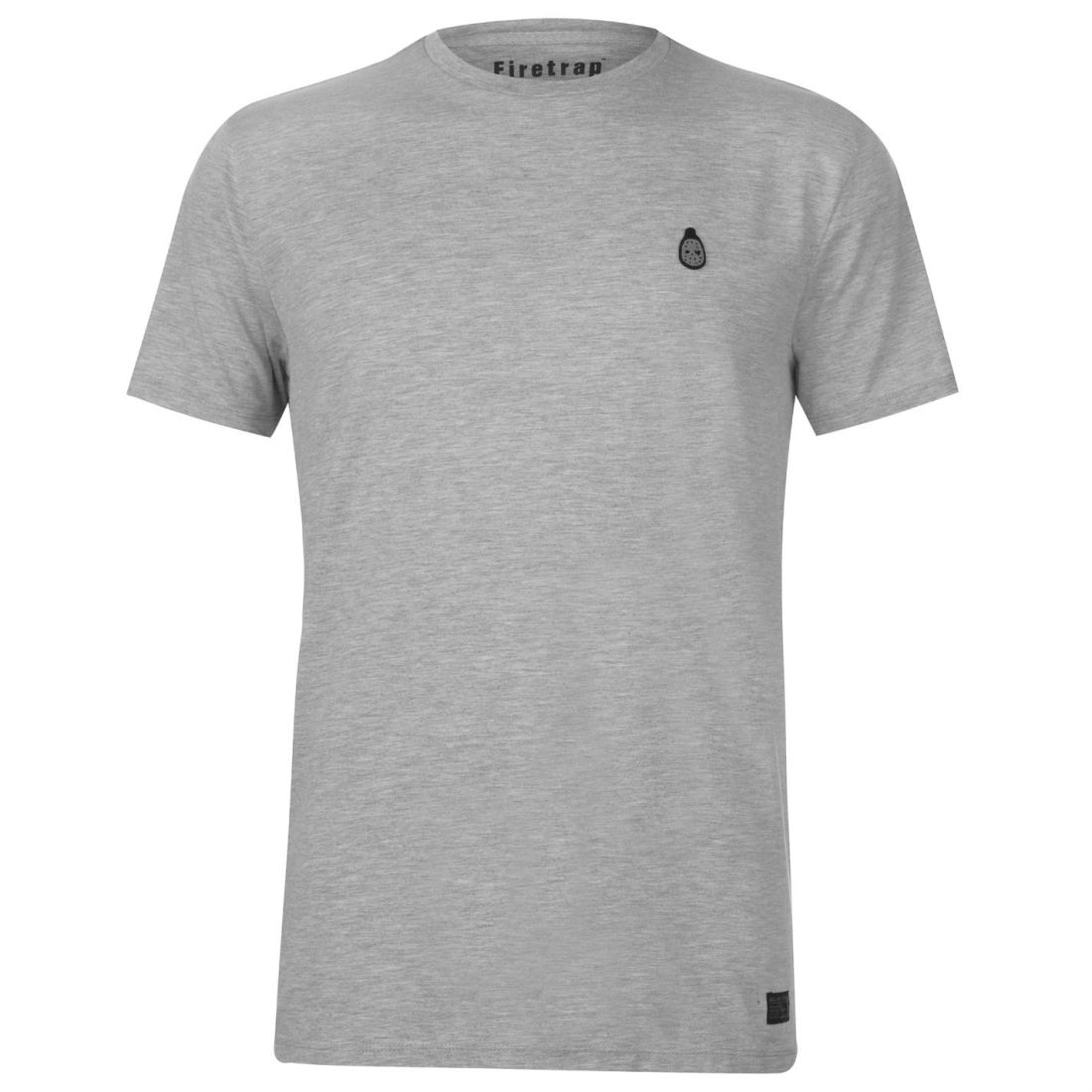 Firetrap Blackseal Gnome Crew T Shirt Uomo Gents Neck Tee Top Cotone Regular Fit