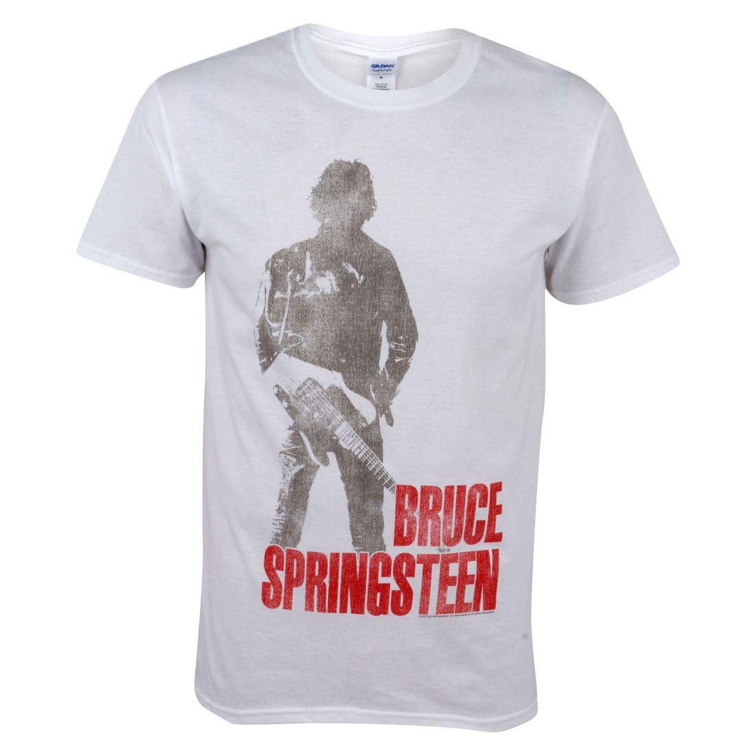 Officiel Hommes Gents Bruce Springsteen T-Shirt chaud ras du cou à manches courtes Top Vêtements