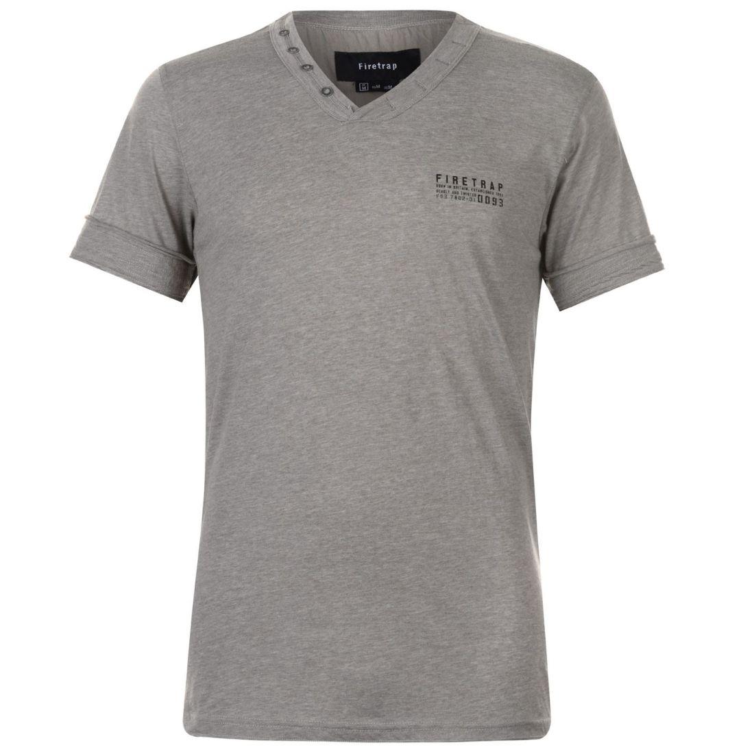 Firetrap Striding V Neck T Shirt Mens Gents