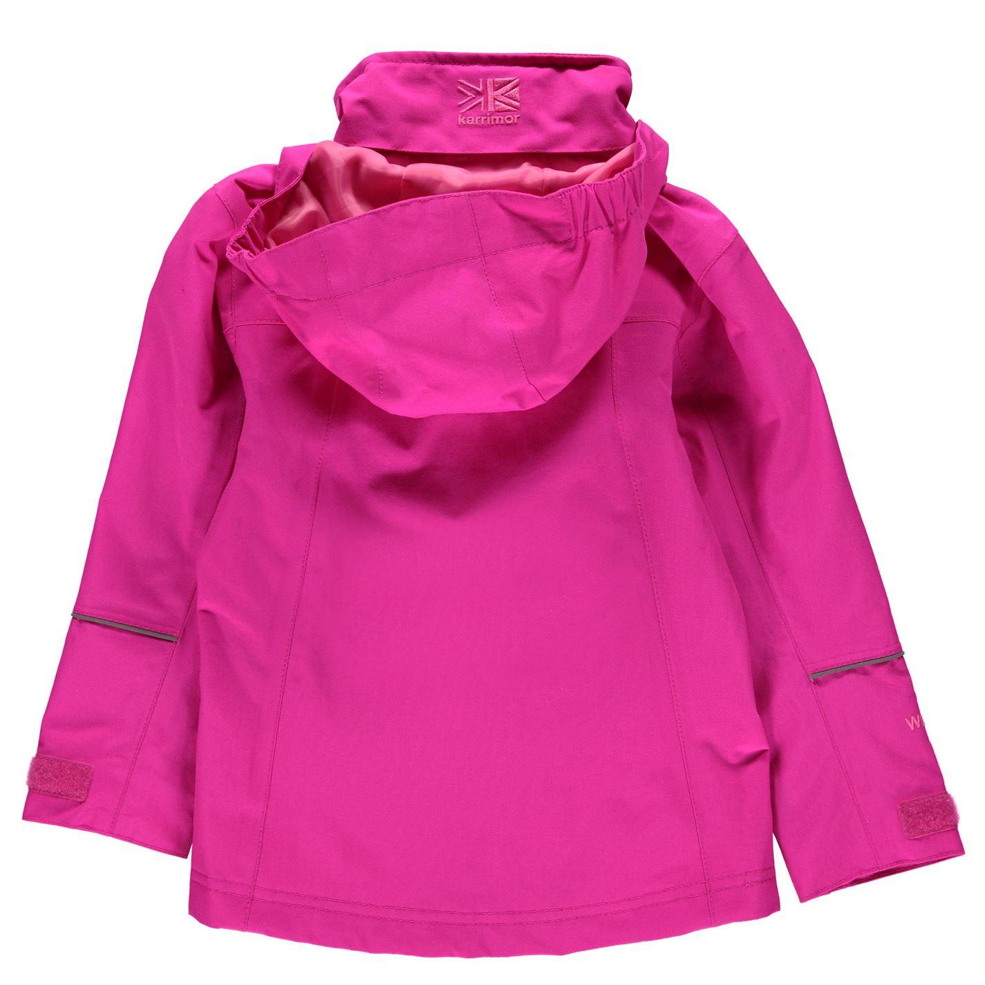 Karrimor Kids Urban Jacket Infants Fixed Hood Meshed Lining Reflective Detailing
