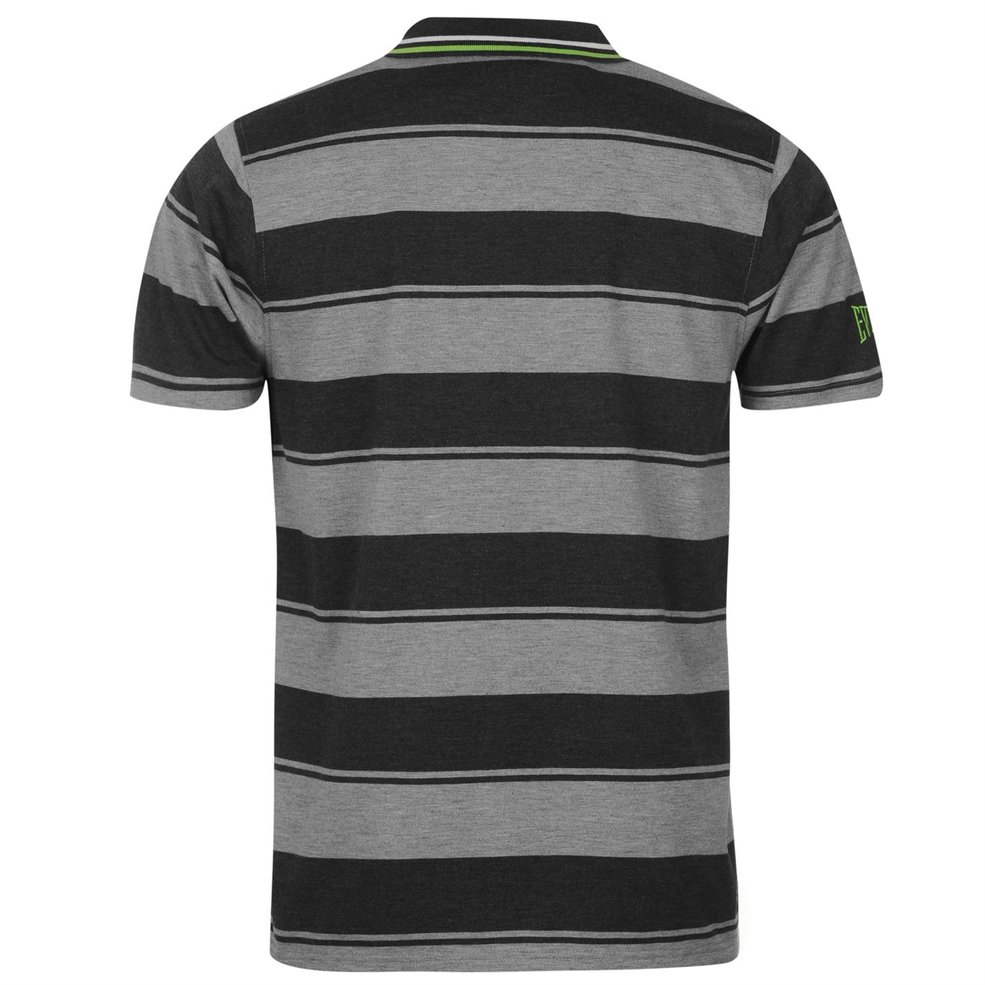 Everlast Mens Yarn Dye Bold Stripe Polo Short Sleeve Sports Casual Tee Clothing