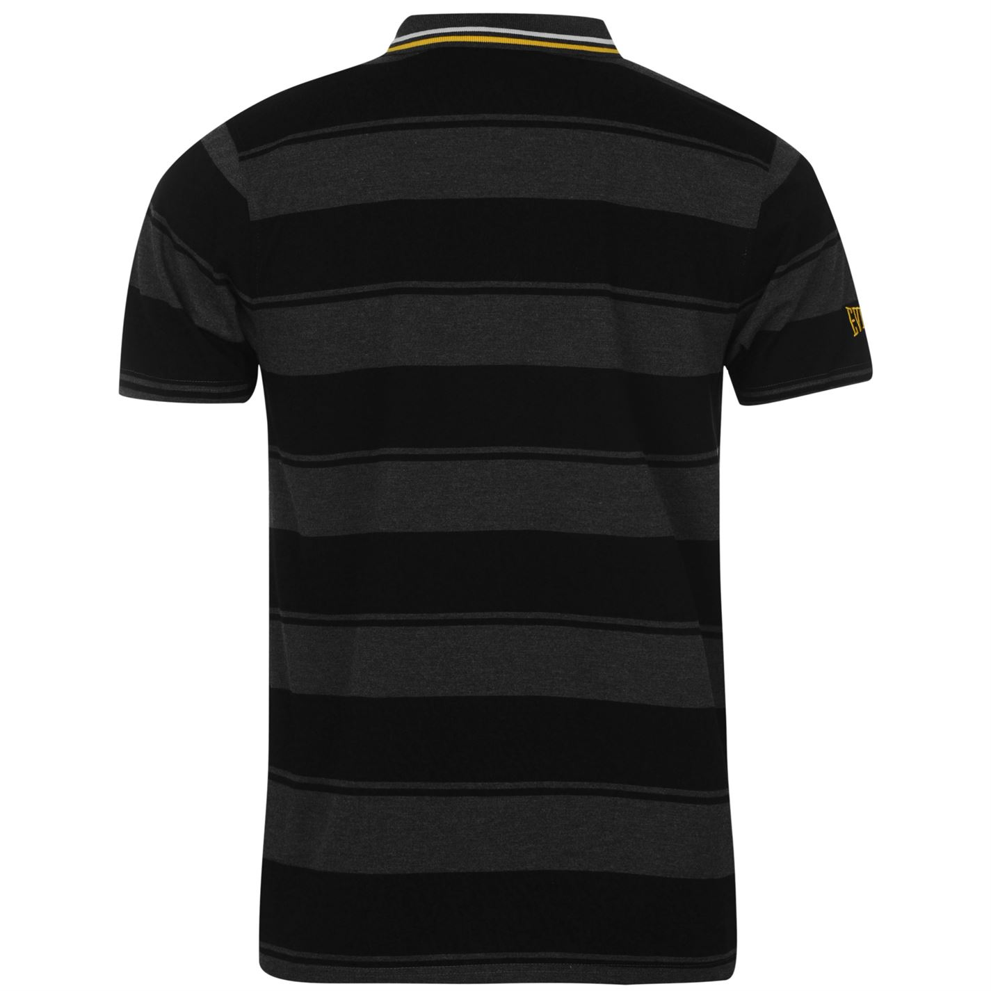 Everlast Mens Gents Yarn Dye Bold Stripe Polo Short Sleeve Sports Casual Tee