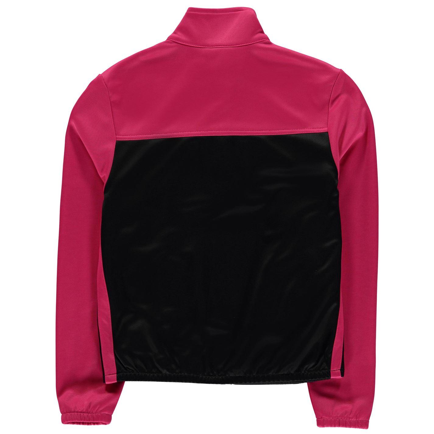 Lonsdale 2 Stripe Track Giacca Giovane Ragazze Tuta Da Ginnastica Top Coat CHIN GUARD
