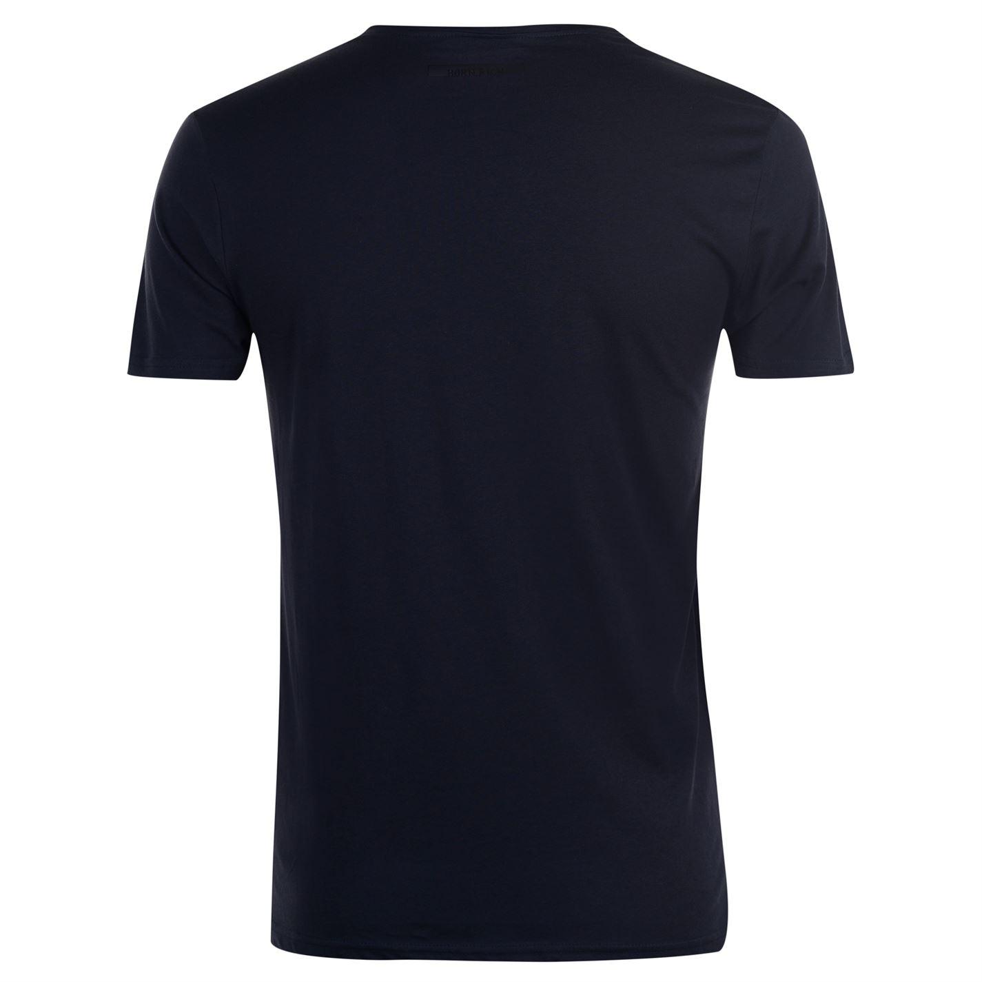 Born Rich Agate T Shirt Mens Gents V Neck Tee Top Short Sleeve