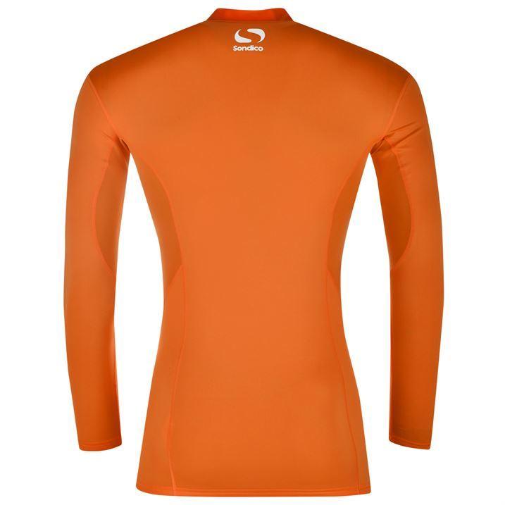 Sondico Baselayer Mock Top LS Compression Fit Sports Sweatshirt Mens Gents