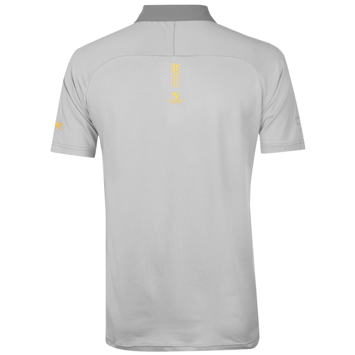 Slazenger Performance Striped Polo Shirt Mens Gents Short Sleeve Tee Top