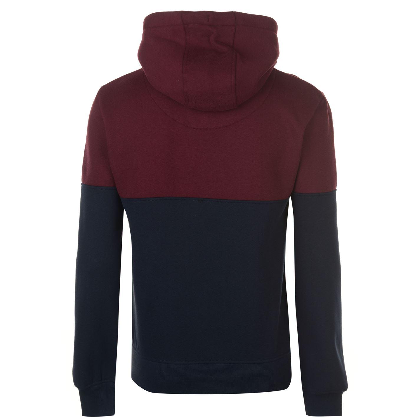 SoulCal Colour Block OTH Hoodie Mens Gents Hoody Hooded Top Full Length Sleeve