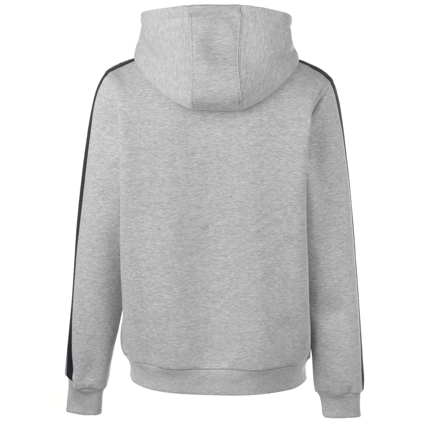 Lonsdale Mens 2S Zip Hoody Hoodie Hooded Top Long Sleeve Full Stripe Jersey