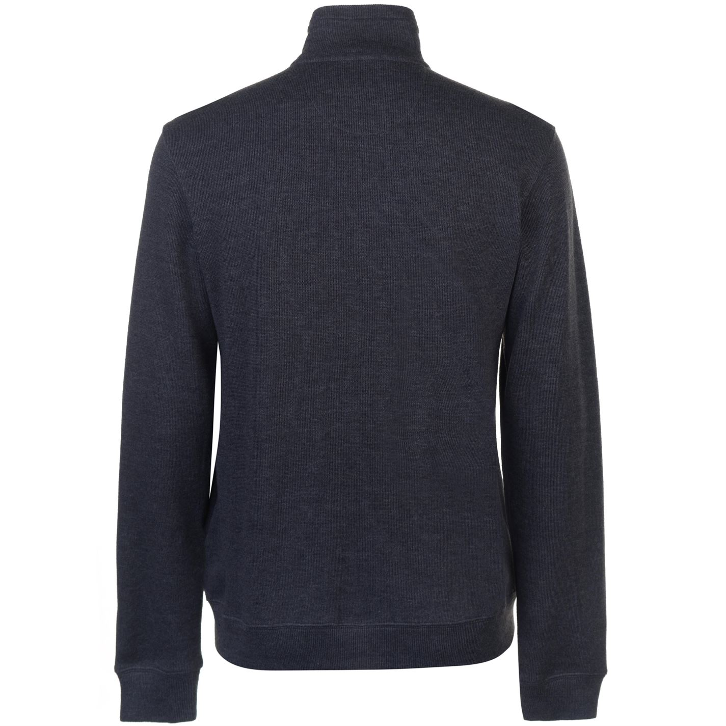 Pierre Cardin Mens Full Zip Ribbed Knit Sweater Jumper Pullover Long Sleeve High