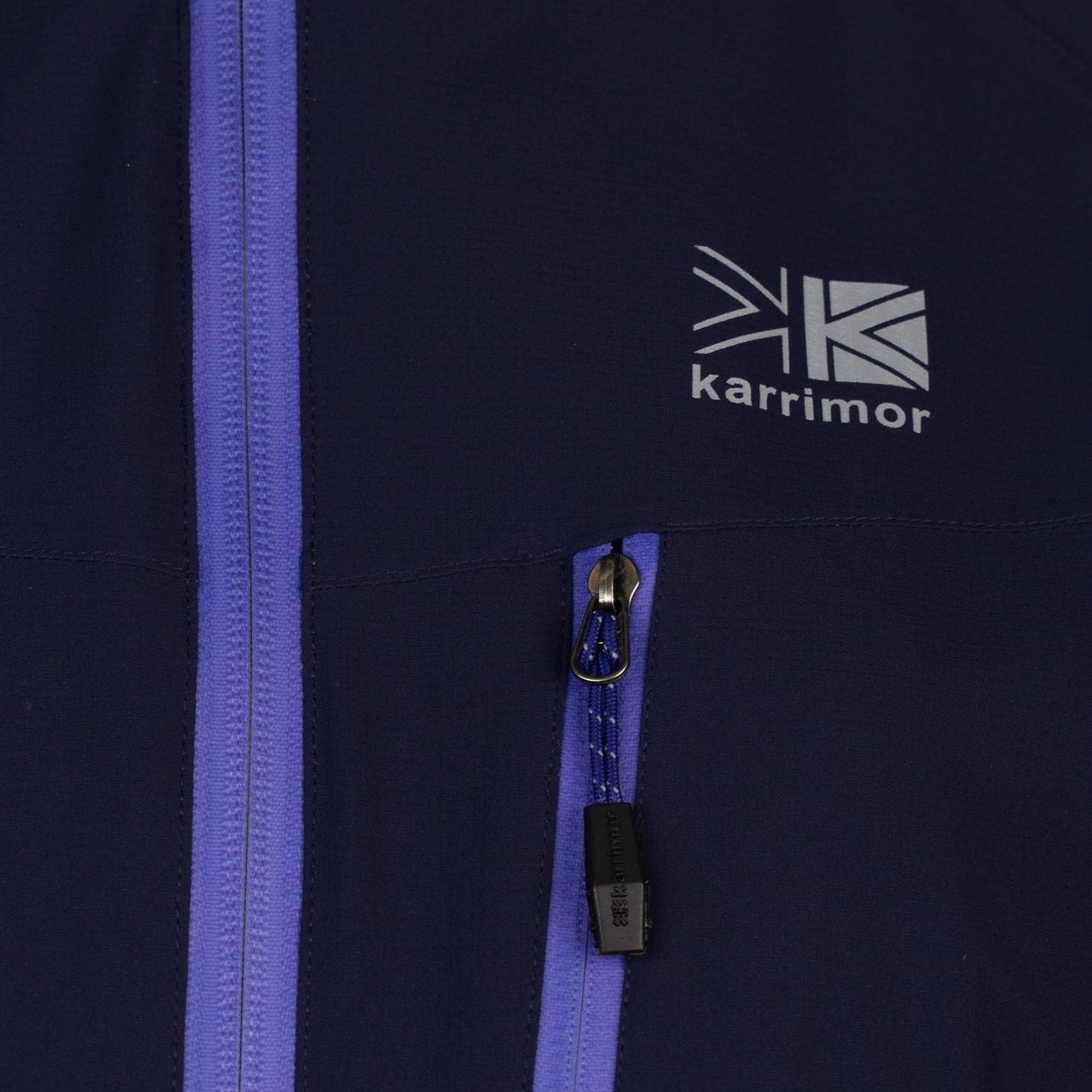 Karrimor Argon Jacket Ladies Water Repellent Coat Top Full Length Sleeve Chin