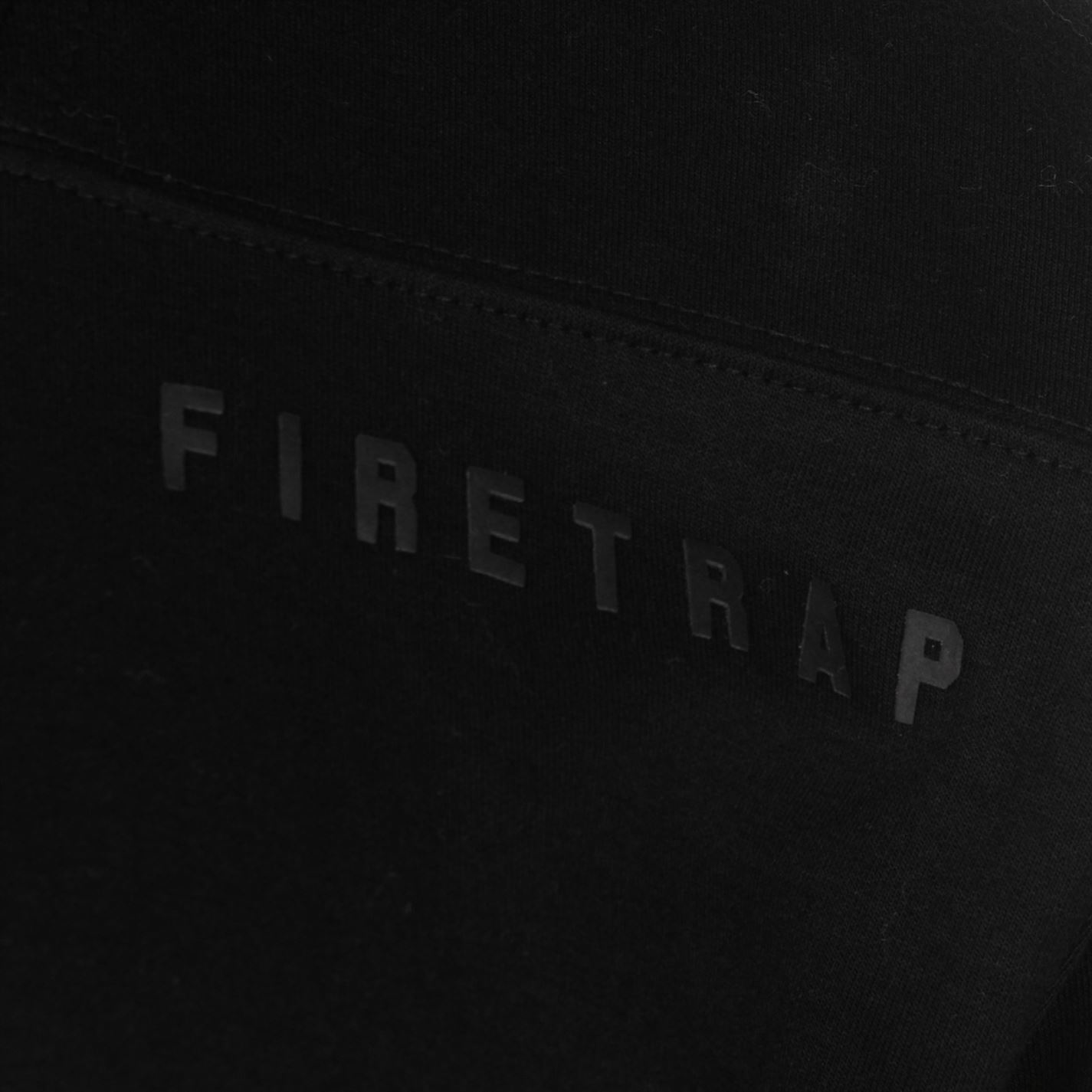 Firetrap Mens Interlock Longline OTH Hoody Hoodie Hooded Top Long Sleeve Zip