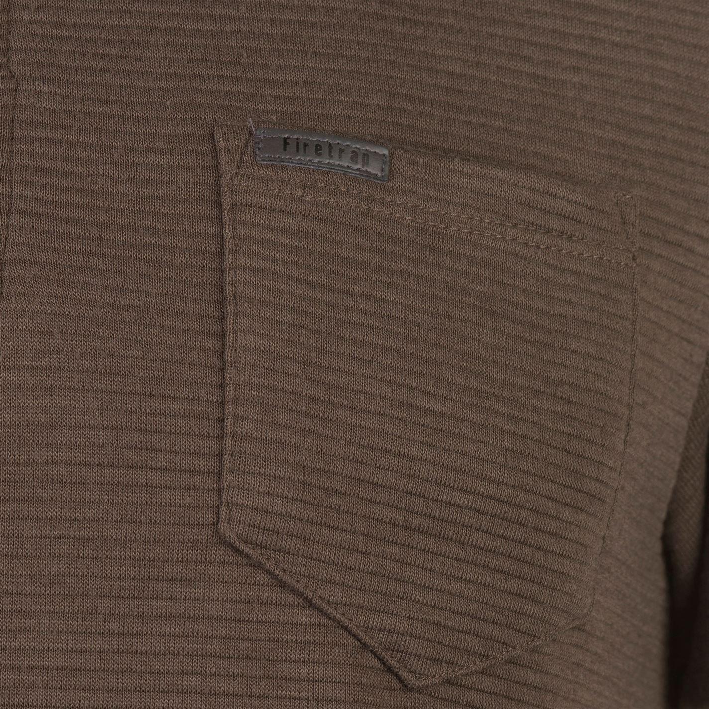 Mens Firetrap Rib Zip Polo Shirt Slim Fit Short Sleeve New