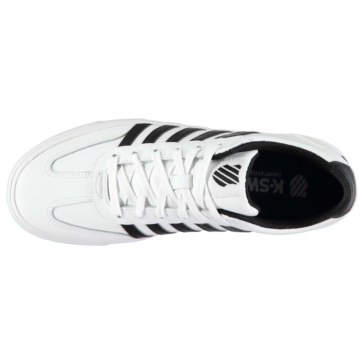 K Swiss Addison Vulc Sneakers Mens Gents Court Laces Fastened Padded Ankle