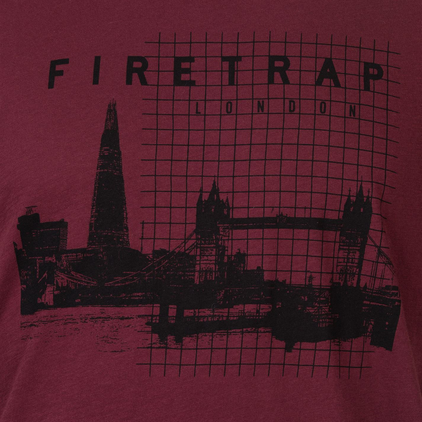 Mens Firetrap Graphic T Shirt Crew Neck Short Sleeve New
