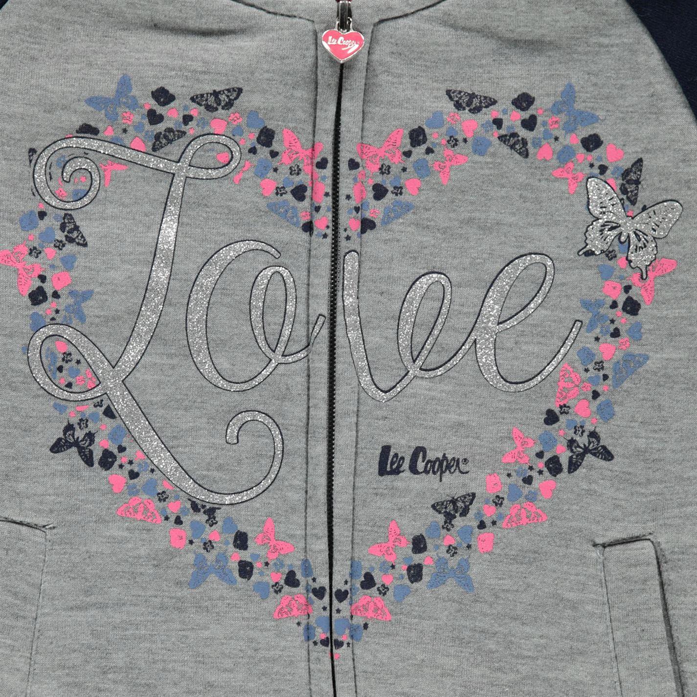 Lee Cooper C Glitzy BB SWT Ragazze Per Bambini Con Zip Pullover Maglione