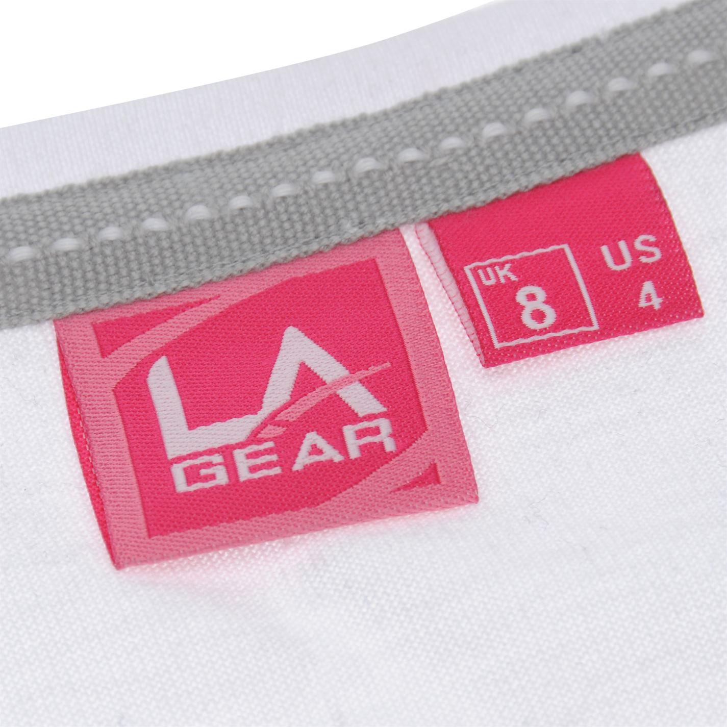 LA Gear Femme T-Shirt col V à Manches Courtes Tee Top