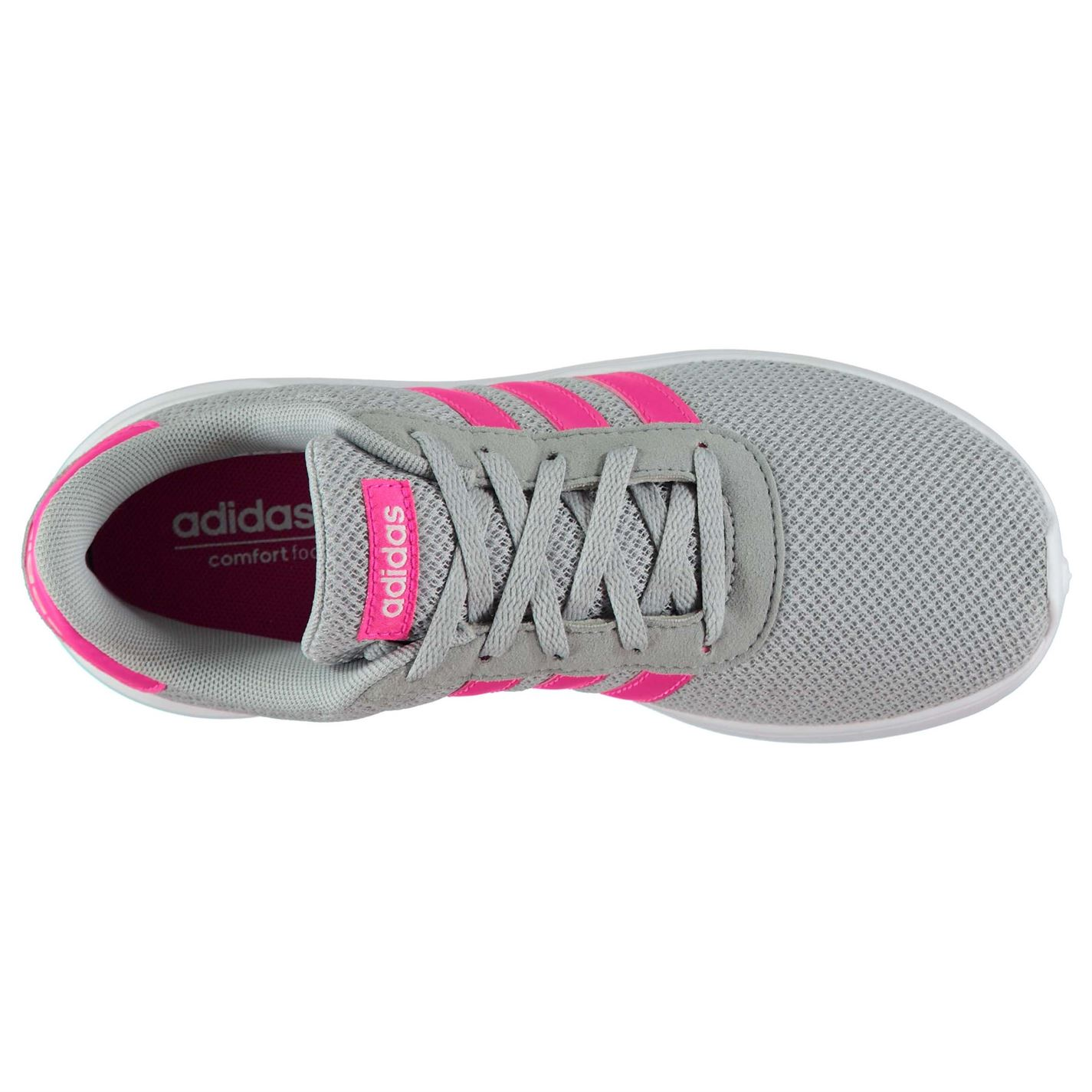 adidas Kids Girls Lite Racer Child Trainers Runners Lace Up Casual Comfortable
