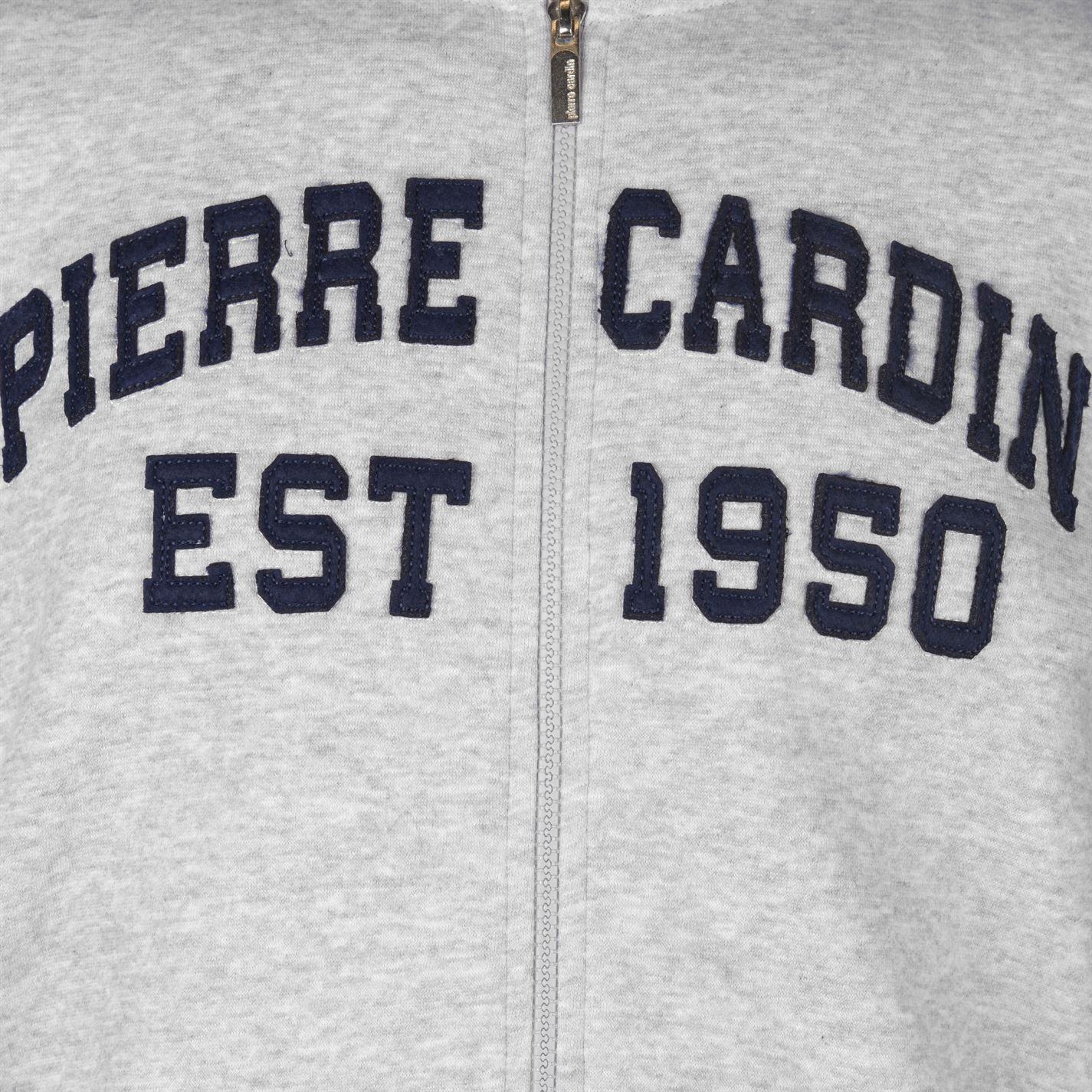 Pierre Cardin Applique felpa con cappuccio e cerniera Uomo Gents Felpa con cappuccio Felpa con cappuccio con cerniera