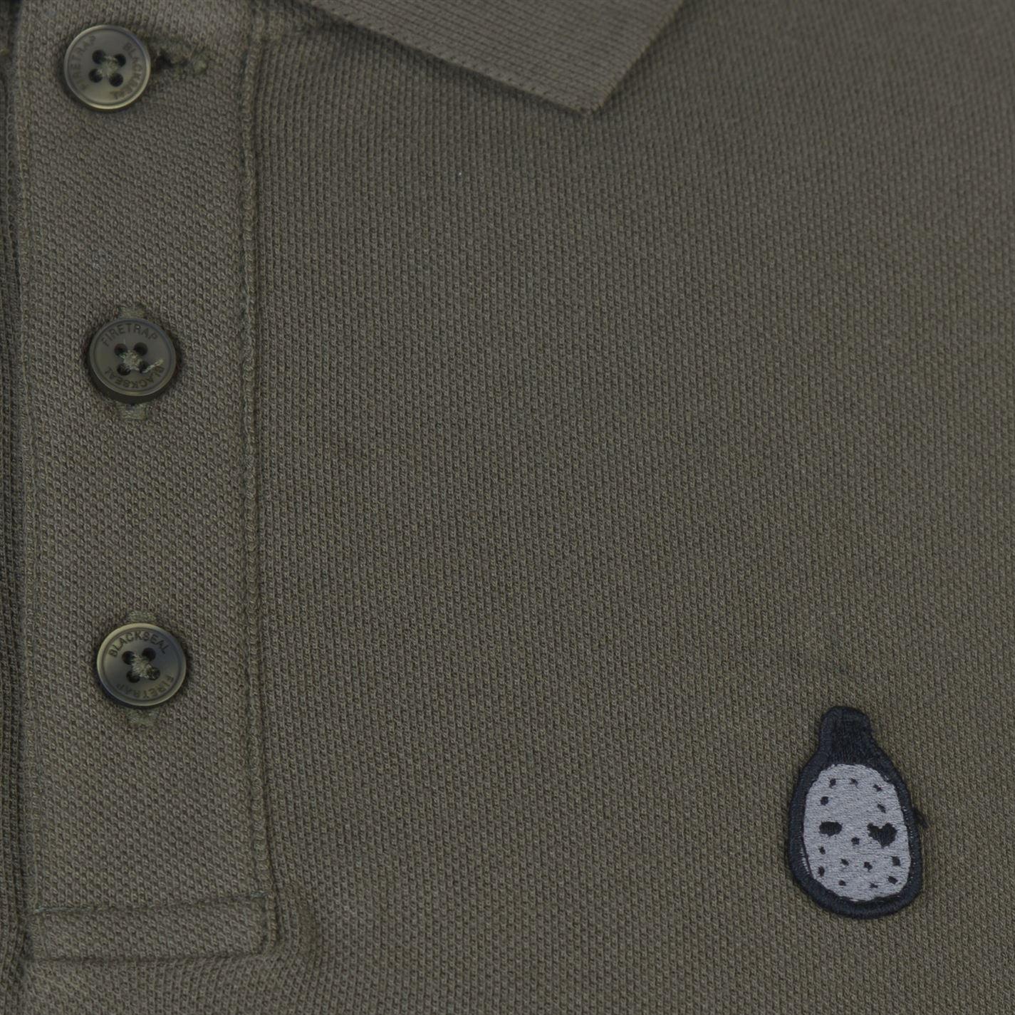 Mens Firetrap Blackseal Gnome Polo Shirt Classic Fit Short Sleeve New
