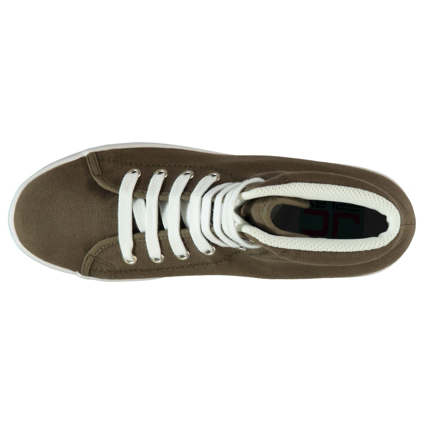 Jeffrey Campbell Play Canvas Wash Trainers Ladies Footwear Womens