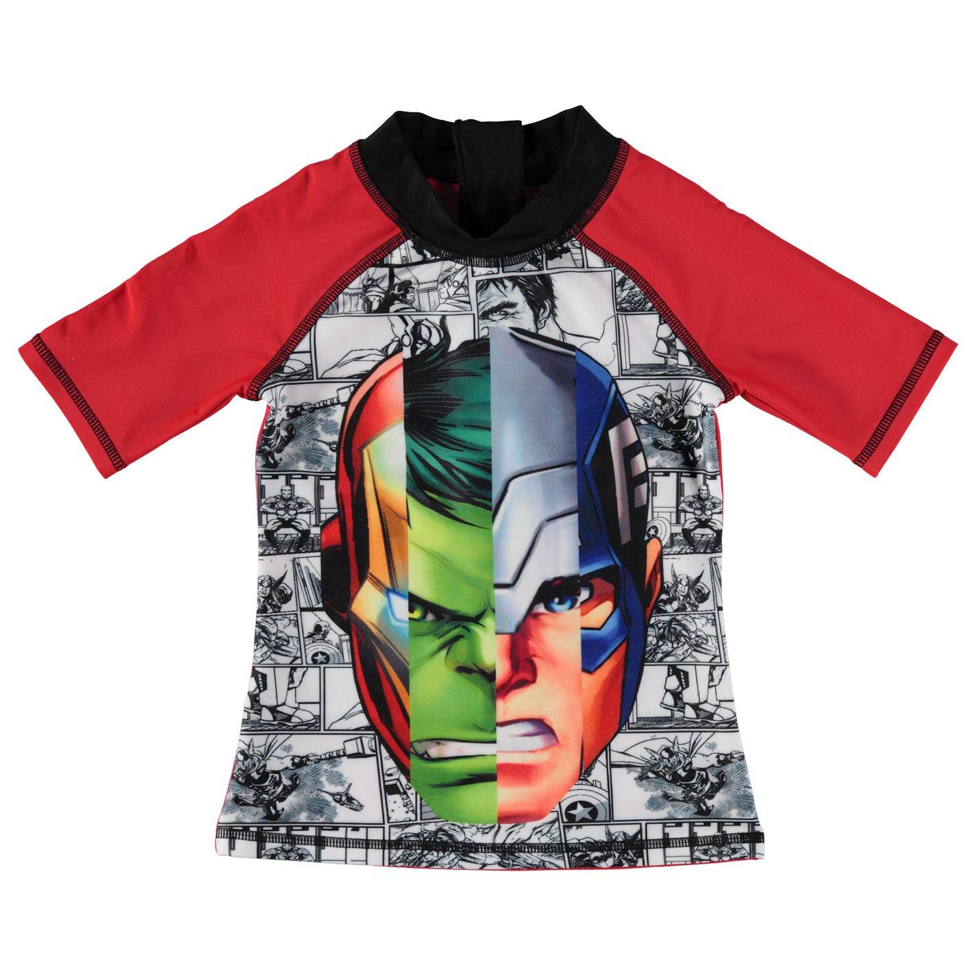 Character Kids Boys 2 Piece Swim Set Shorts T Shirt Tee Top Infant Clothing