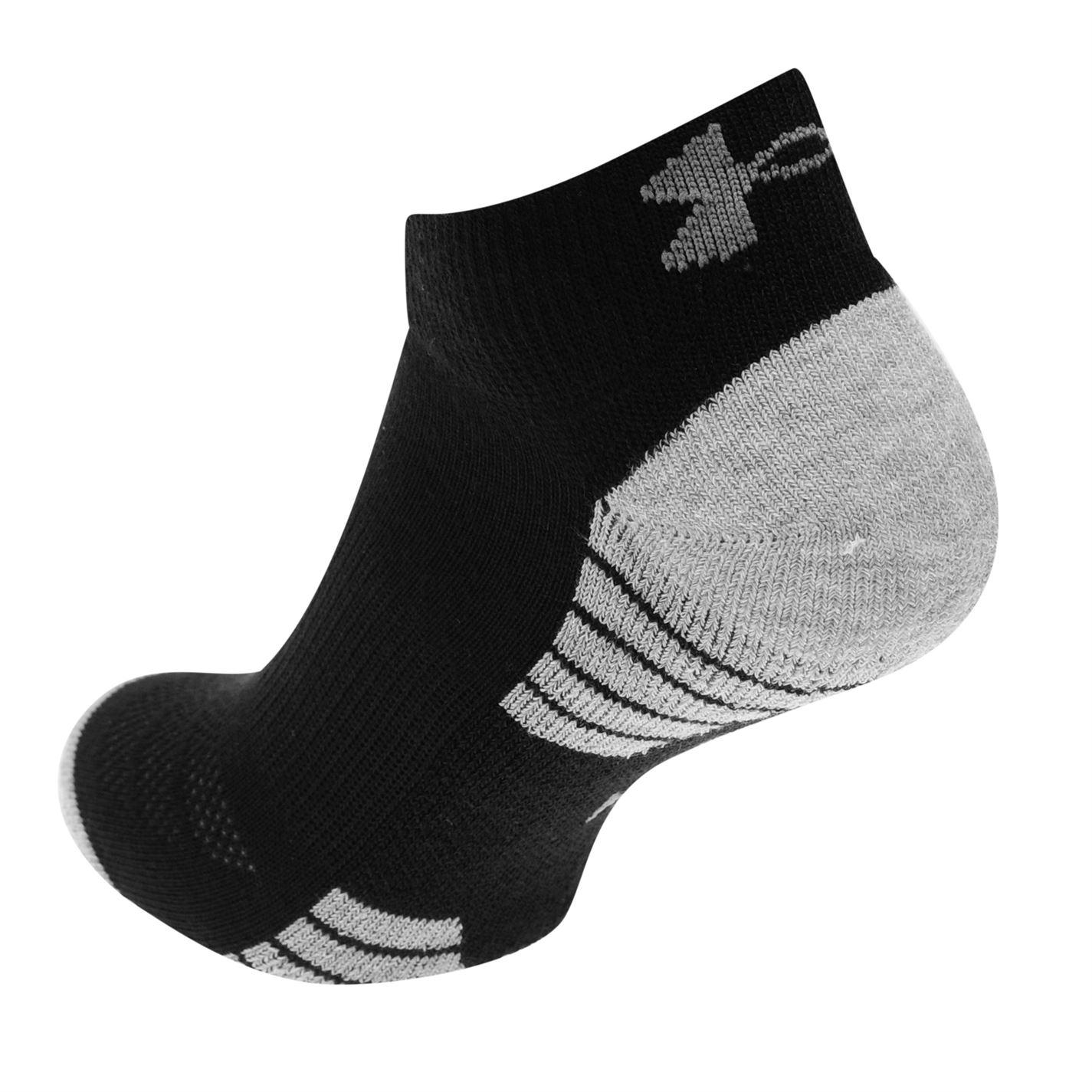 Under Armour Tech quart Pack 3 chaussettes Homme Gents Moisture Wicking Sport