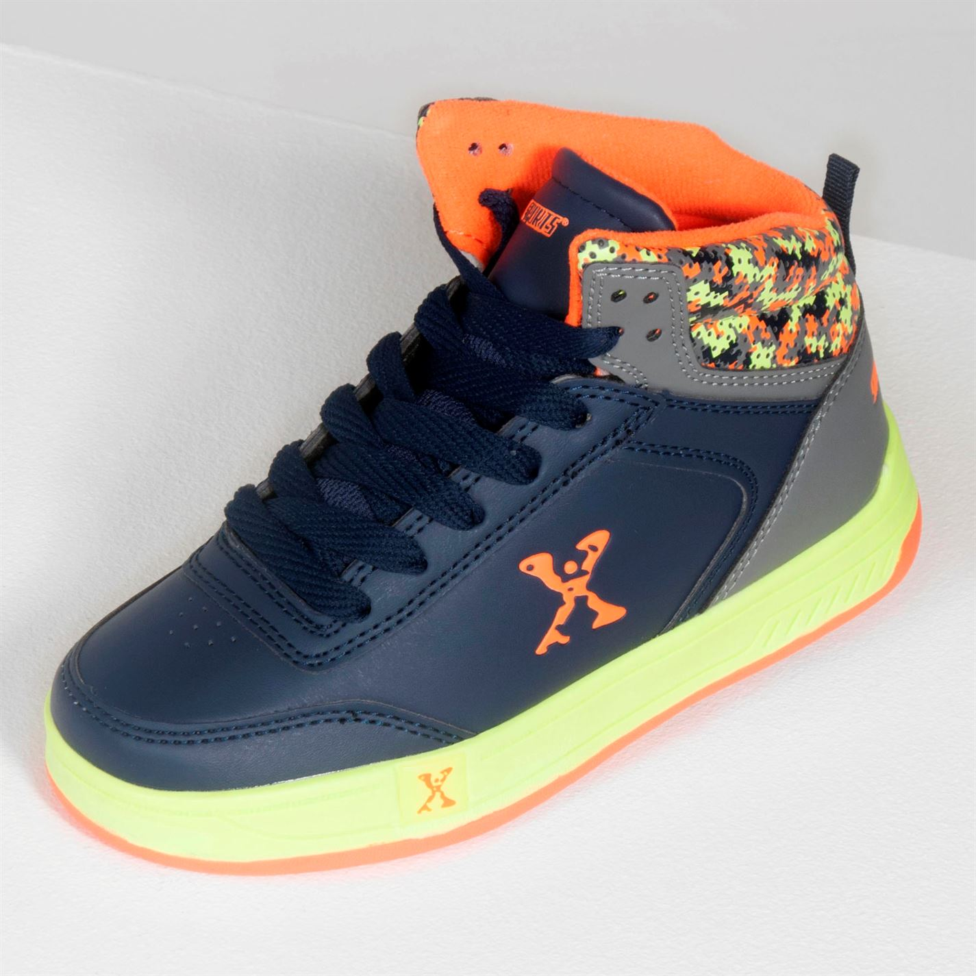 Sidewalk Sport Childrens Hi Top Boys Skate Laces Fastened Roller Shoes Footwear