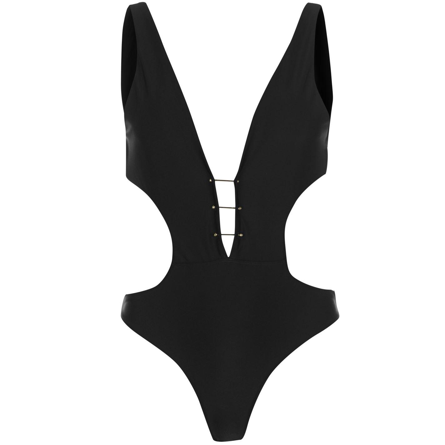 Golddigga Womens Plunge Swimsuit Beach