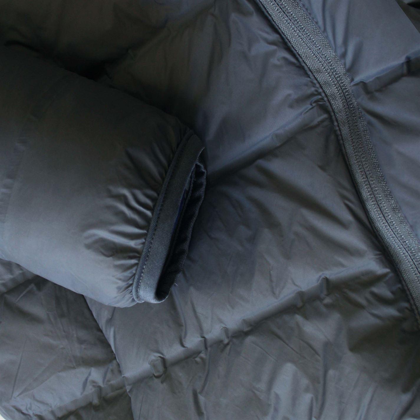 Lee Cooper Mens Seamless Down Jacket Puffer Coat Top Hooded Zip Full Warm