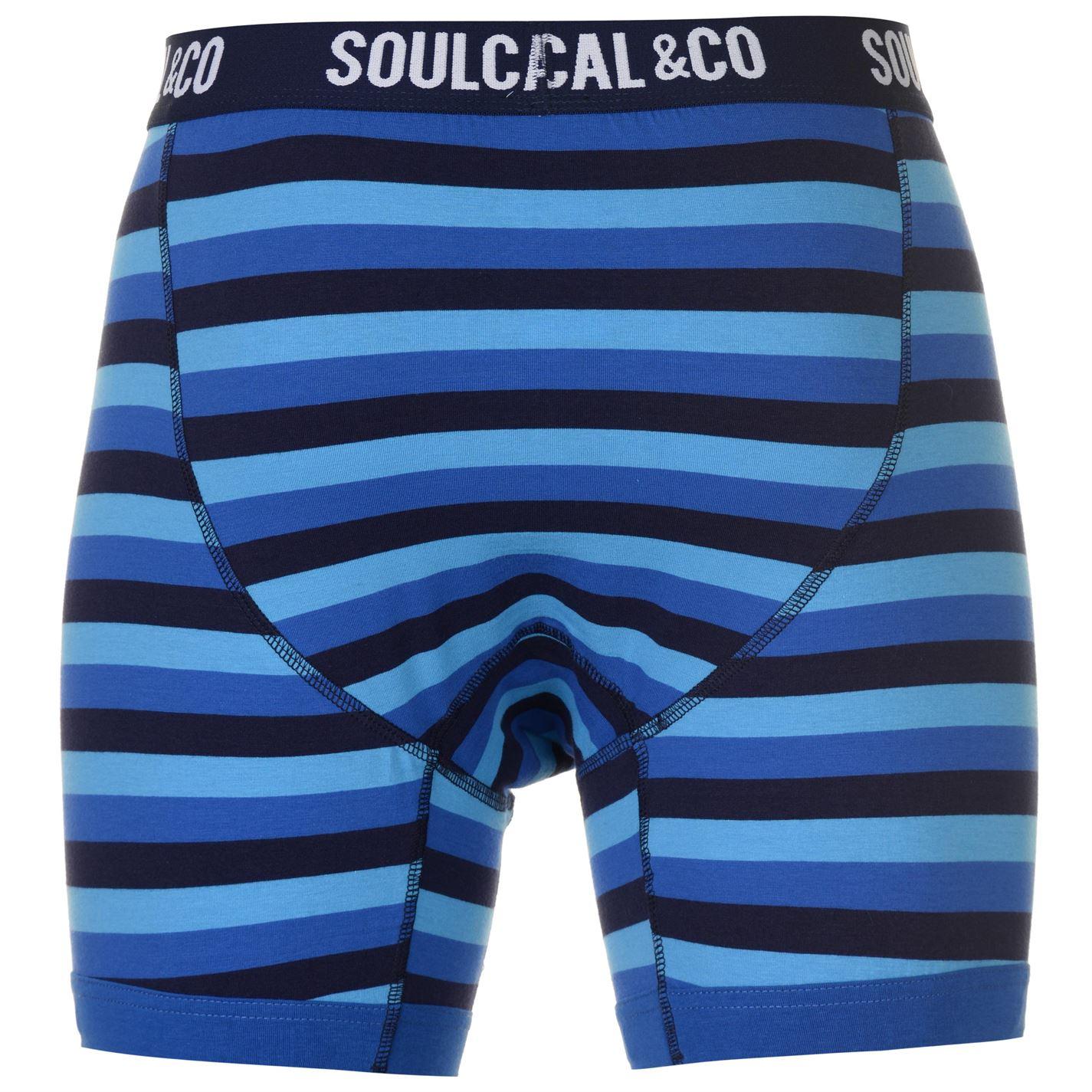 SoulCal 2 Confezione Di Boxer Uomo Gents Boxer Mutandoni Modello Stretch