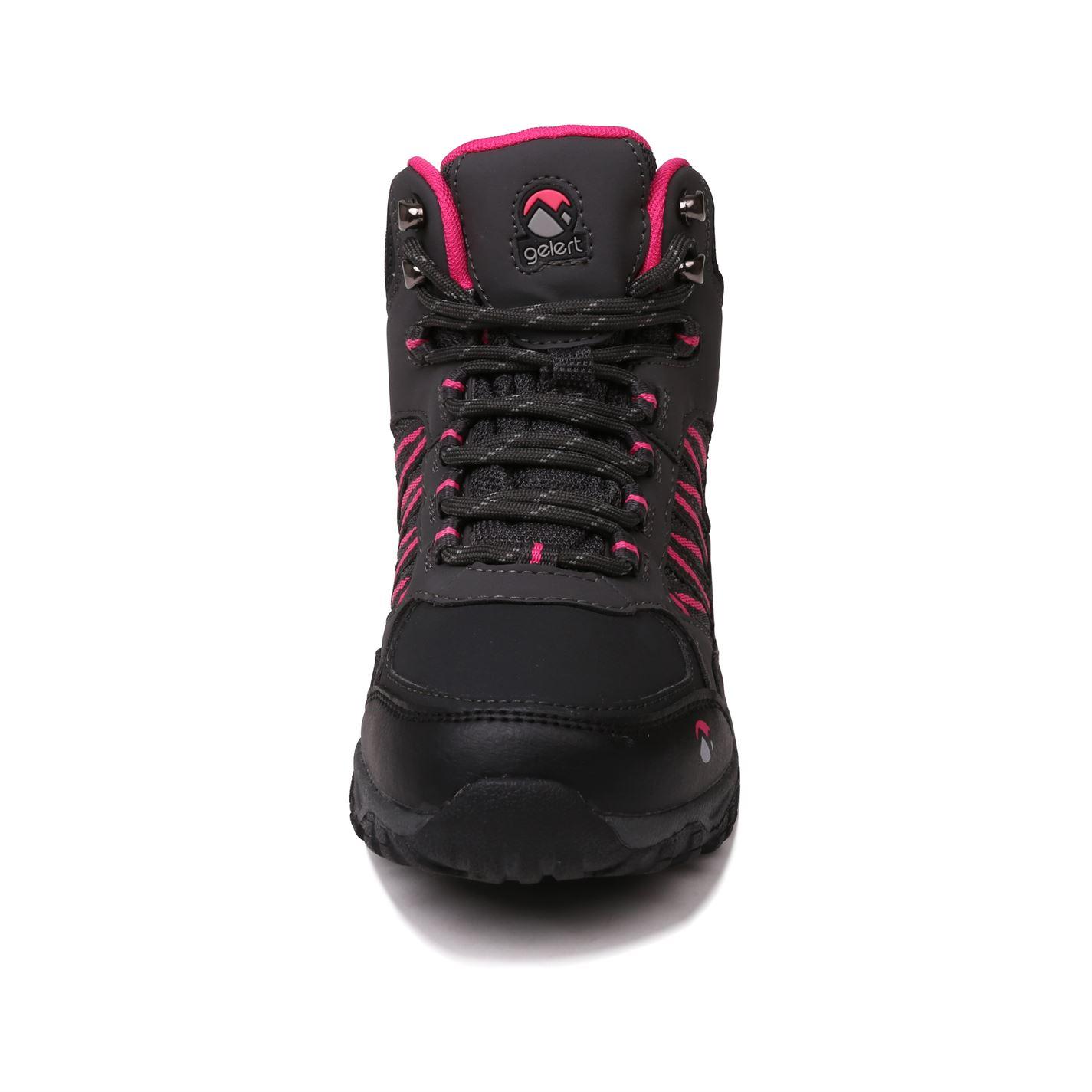 Gelert Childs Horizon Mid Waterproof Walking Boots Laces Fastened Ankle Footwear