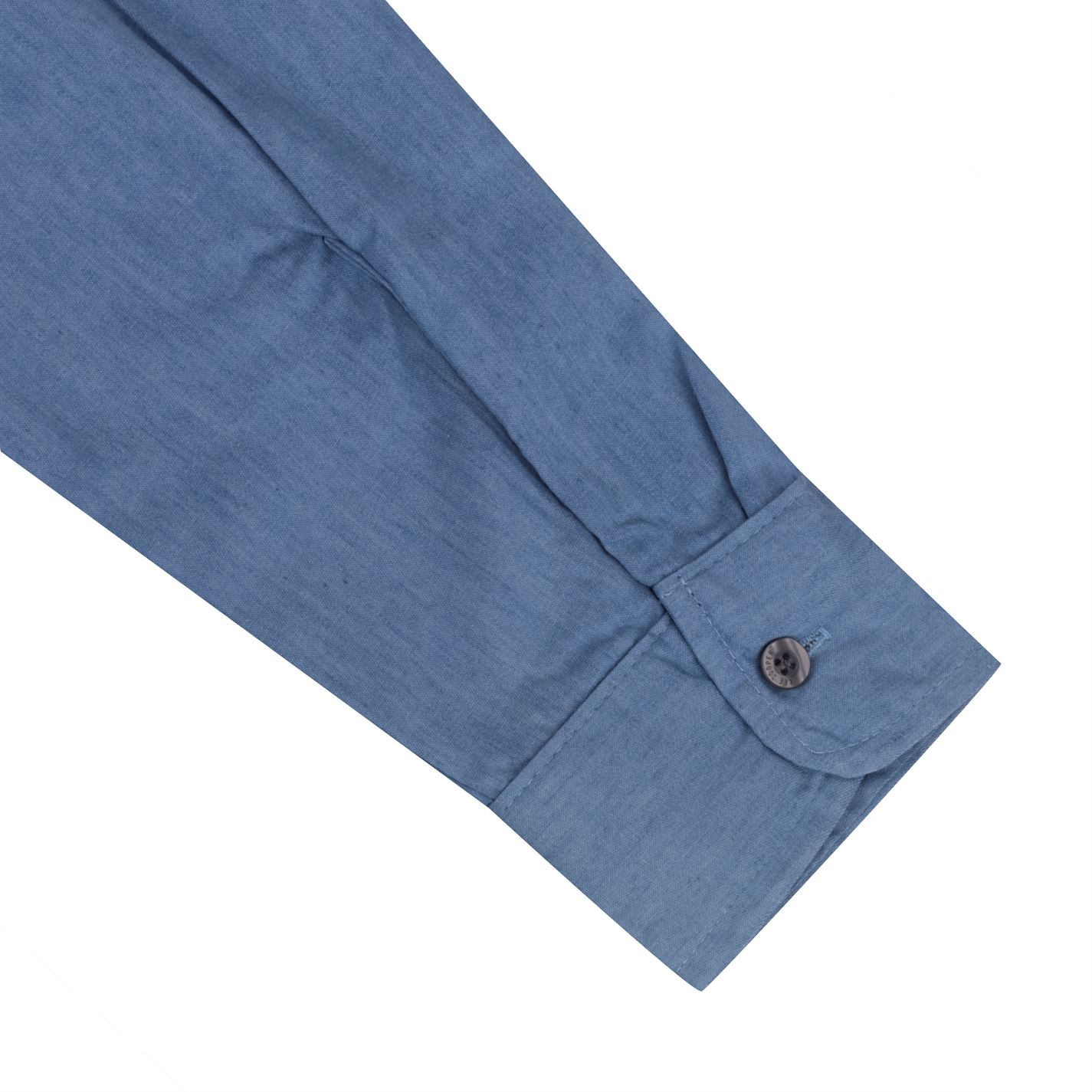 Lee Cooper Mens Casual Denim Shirt Long Sleeve Cotton Chest Pocket