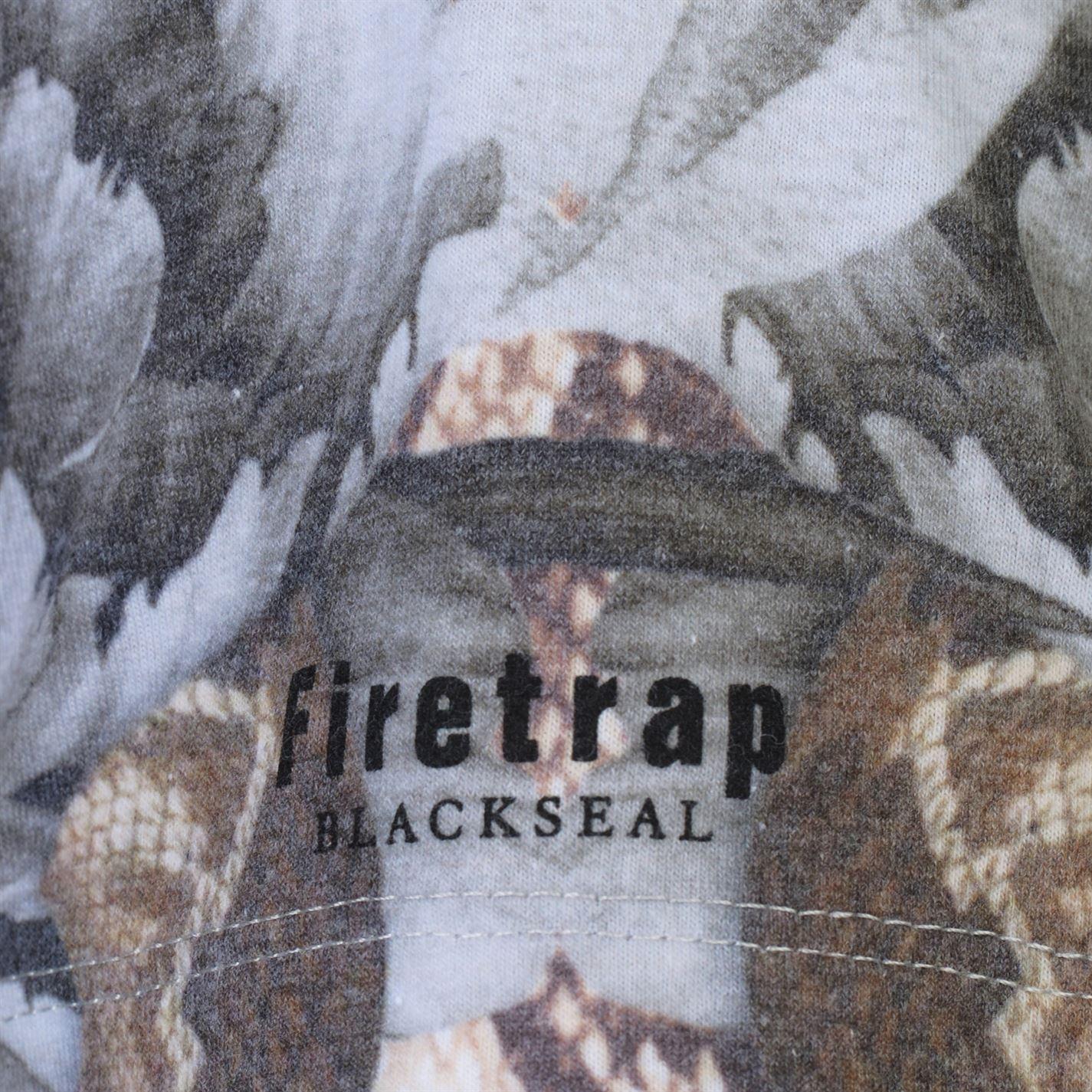 Mens Firetrap Blackseal Moth Skull T Shirt Crew Neck Short Sleeve New